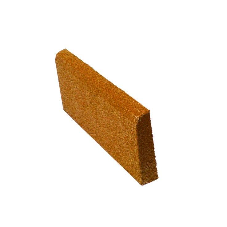 Резиновая плитка ST Бордюр коричневый 500x250х40 мм