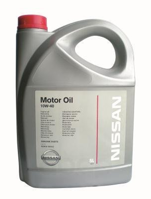 NISSAN Масло Мотор. Nissan 10w40 5л