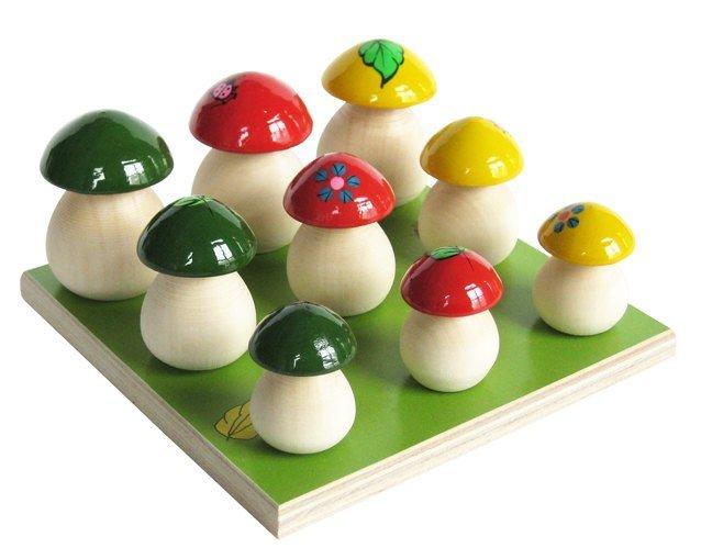 Развивающая игрушка грибочки