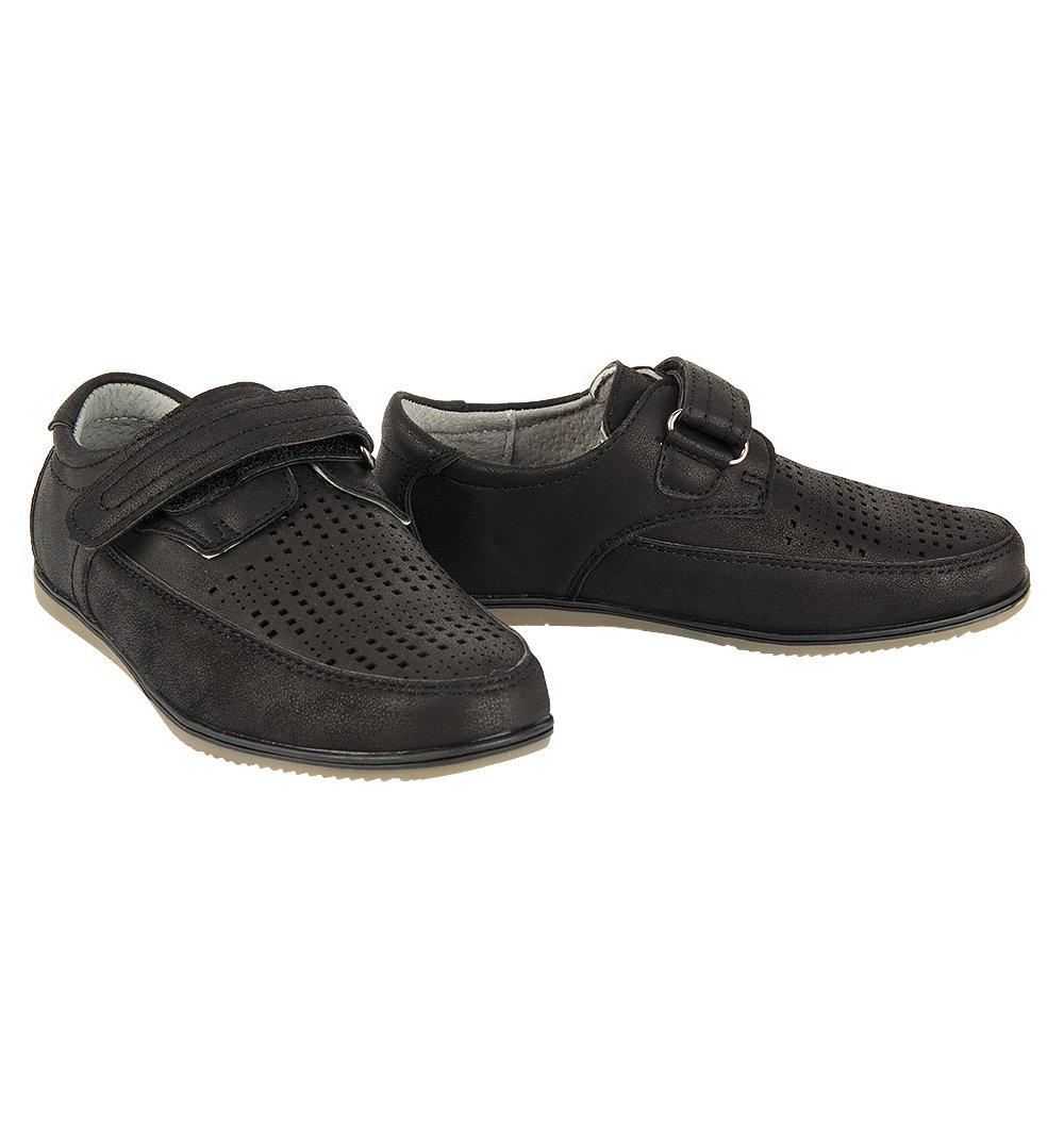 Полуботинки QILI цвет: черный, для мальчиков, размер 36