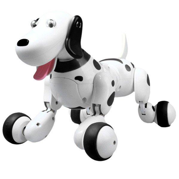 Радиоуправляемые Животные/Насекомые Радиоуправляемая собака-робот Happy Cow Smart Dog (черная/розовая) - 777-338