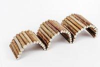 Zoobaloo Зообалу Игрушка для грызунов Мост деревянный малый 20х10 см