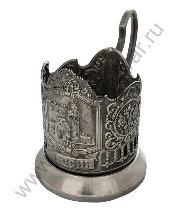 Подстаканник никелированный с чернением