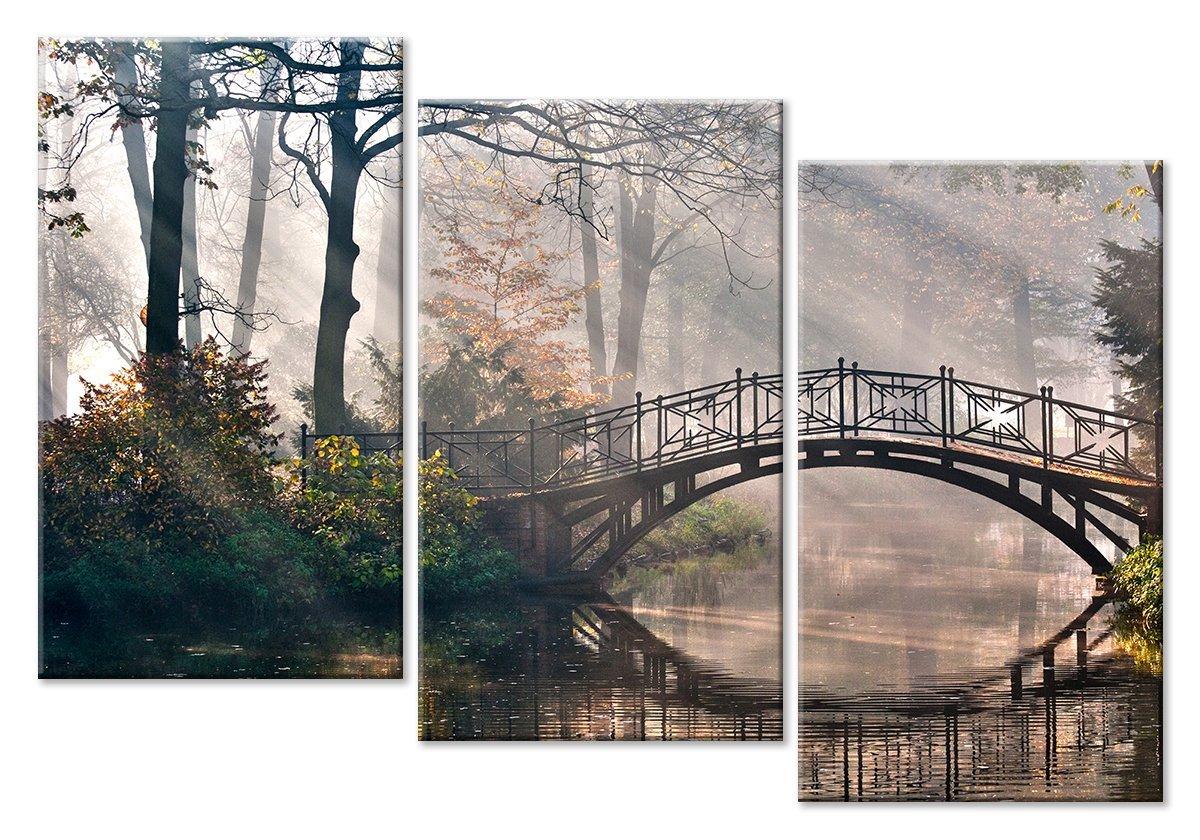 Модульная картина «Мост в старом парке», 71x50 см, модульная картина