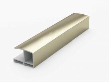Анодированный алюминиевый профиль.3.05 м. Золото матовое №62 Nielsen 62002