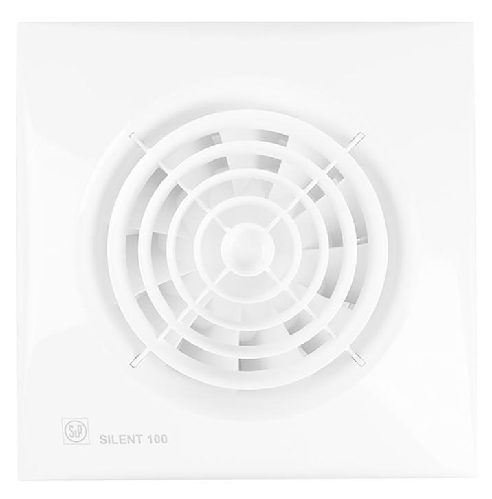 Вытяжной вентилятор Soler & Palau SILENT-100 CZ 8 Вт с обратным клапаном белый