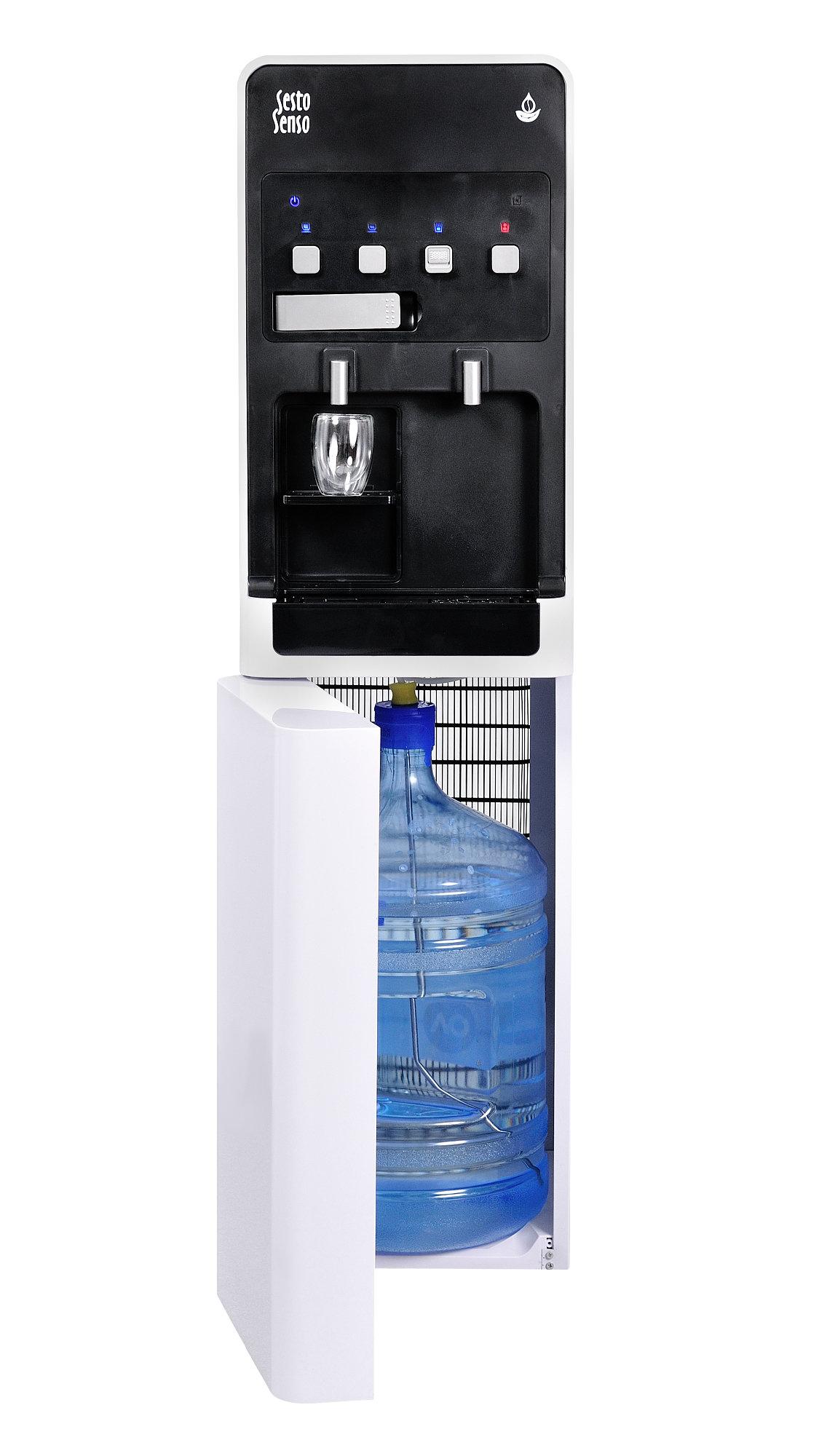 Кулер для воды с нижней загрузкой с чалдовой кофемашиной Sesto Senso SS15A
