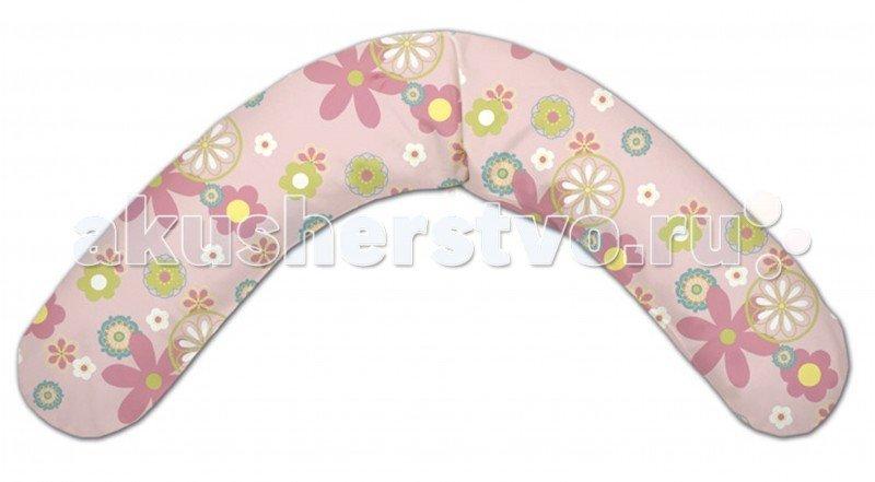 Theraline Подушка для кормления 190 см Цветы Розовая