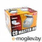 Контейнер д/CD Aidata CD80 (40конв д/2CD,откидн стенка,серый,пластик)