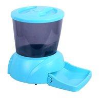 Автоматическая кормушка для кошек и собак мелких пород с ЖК-дисплеем Feed-Ex, голубая New (1 шт)