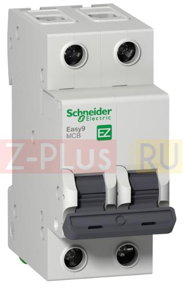 EZ9F34263 EASY 9 2П 63А С 4,5кА 230В =S= Автоматический выключатель