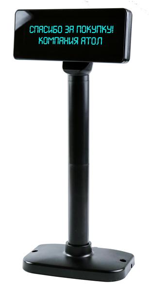 Дисплей покупателя АТОЛ PD-2800 RS232, черный, зеленый светофильтр