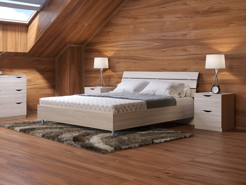 Кровать Орматек Rest 1 (ЛДСП Дуб Шамони) 180x200