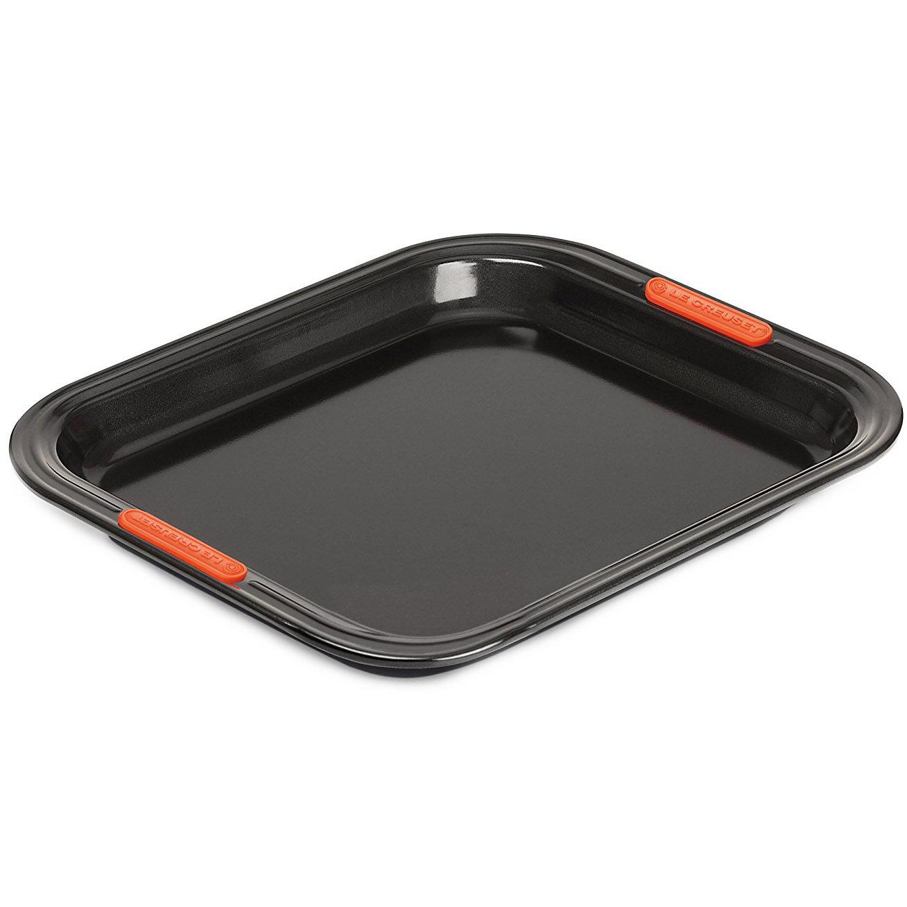противни для запекания и выпечки Le Creuset Алюминиевый противень с антипригарным покрытием, 31 х 28 см, черный
