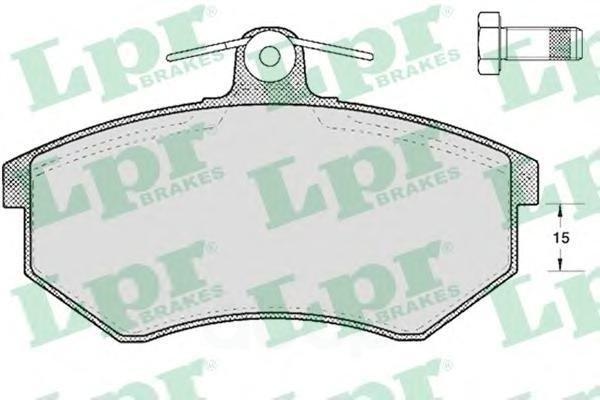 Колодки Тормозные Audi 80/Vw Golf Iii/Passat/Vento/Chery Amulet/Tiggo Передние Lpr арт. 05P299
