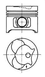 Поршень двс mb 2.3d 2.9d om601 om602 =89 2.5x2x3 Kolbenschmidt 91372610