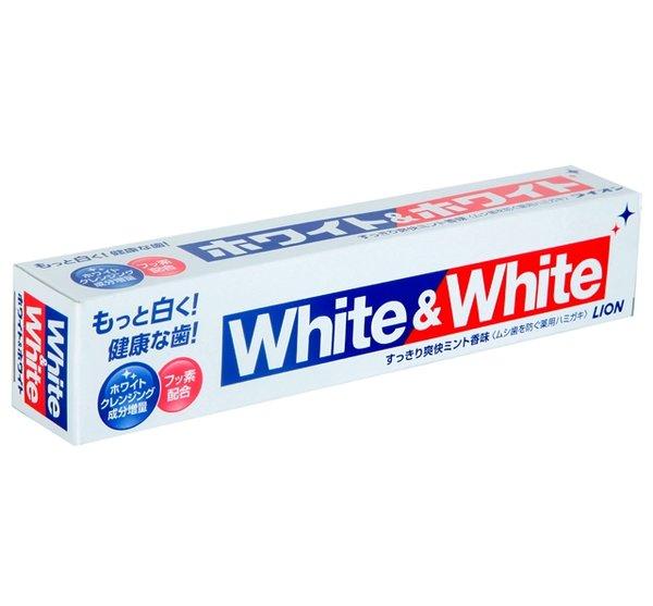 Зубная паста LION White&White с кальцием и фтором отбеливающая 150гр