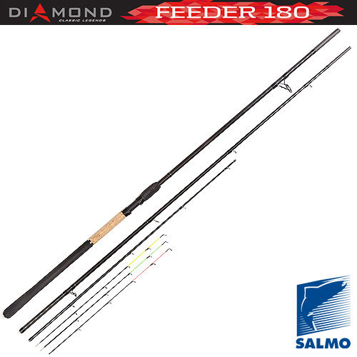 4024-390 Удилище фидерное salmo diamond feeder 3.9м черный 410гр