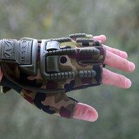Перчатки тактические без пальцев OutDoor Gloves Camo