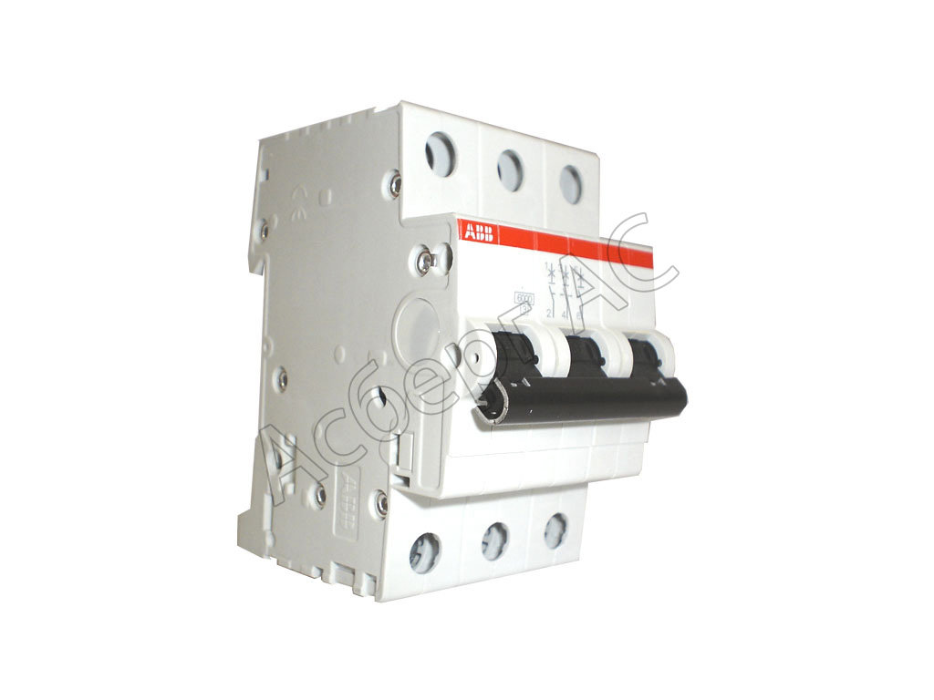 Автоматические выключатели модульные S203M C10 Автомат 3-полюсный 10А 10кА (хар-ка C) ABB