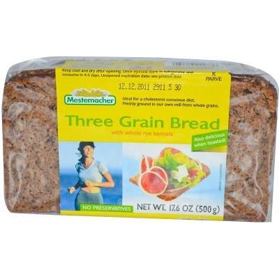 Хлеб из трех злаков с цельными зернами ржи, 17.6 унций (500 г)