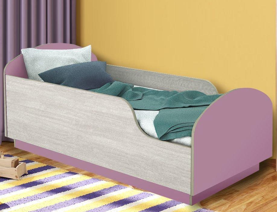Детская Кровать Малыш 140 Сиреневый