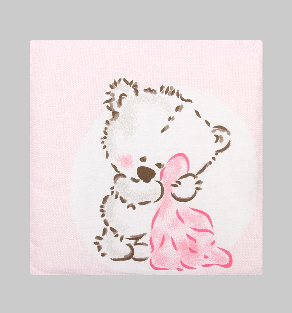Подушка Зайка Моя Бейсбол 40 х 40 см, цвет: розовый