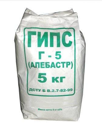 Алебастр строительный 5 кг