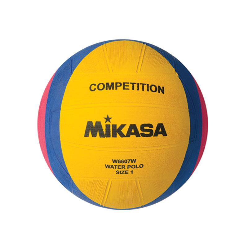 Мяч для водного поло Mikasa W6607W (детский), желтый, 1, Клееный