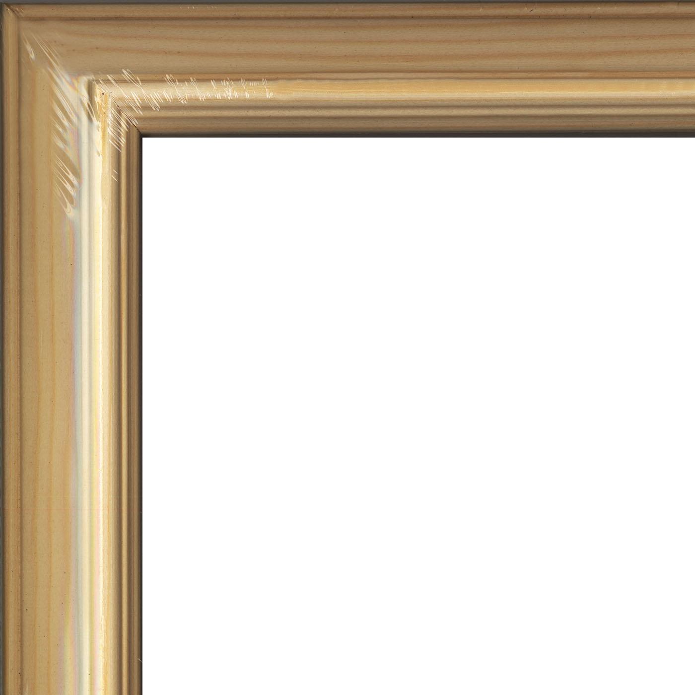 Рамы без стекла Метрика ООО Рама без стекла 45х50см, серия С6 ГАБИ, сосна неокрашенная, профиль прямой