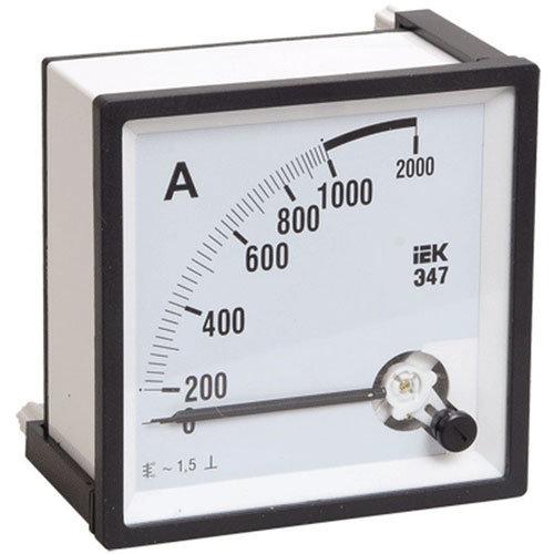 Амперметры IEK Э47 Амперметр 300/5А класс точности 1,5 72х72мм (IPA10-6-0300-E) (IPA10-6-0300-E)