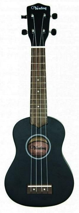 VESTON KUS 15BK - укулеле, сопрано, цвет черный