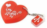 Накопитель USB 2.0 16GB SmartBuy SB16GBHeart Wild series Сердце