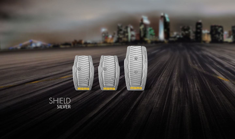 Momo Накладки на педали момо shield-silver