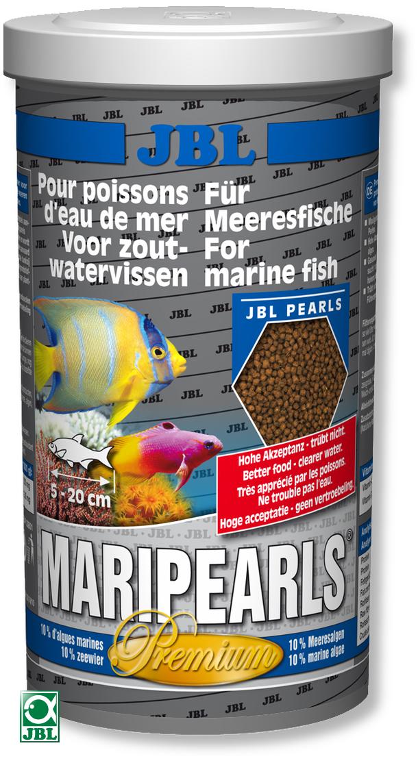 Корм JBL Mari Pearls, гранулы, для морских рыб, 1000 мл (520 гр)