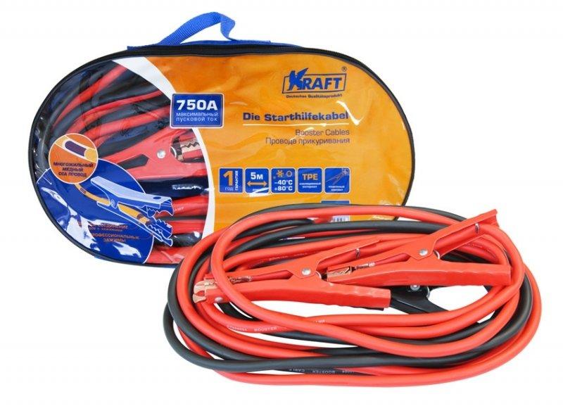 Провода прикуривания 750А KRAFT КТ 880004