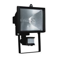 прожектор галогенный NAVIGATOR 500Вт с датч. движ. 180гр до 12м черный IP44 б/решетки