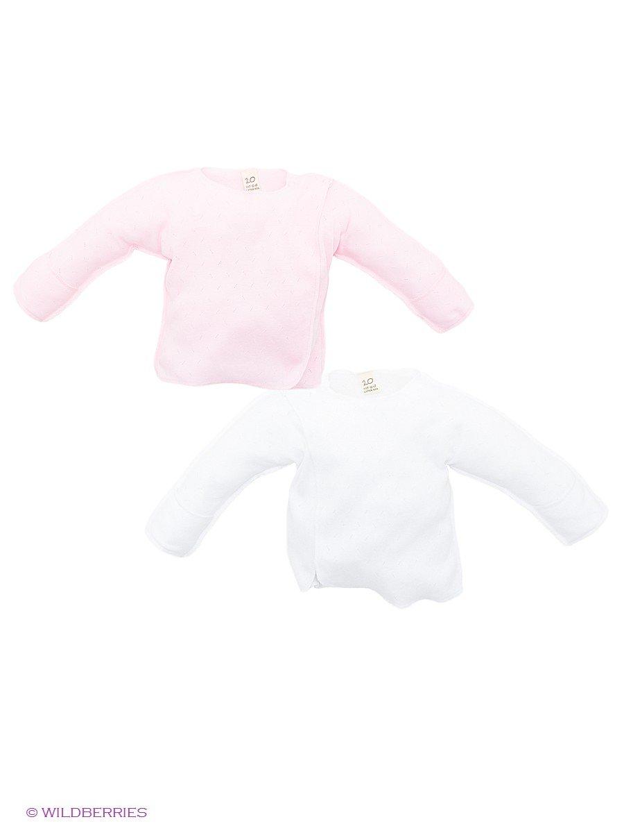 Распашонка Lucky Child 0-8/розовый/белый