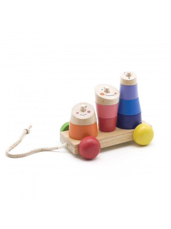 Пирамидка-каталка Мир деревянных игрушек