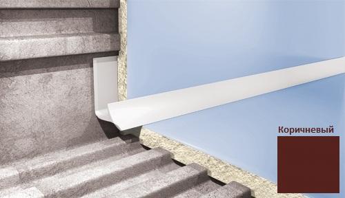 Профиль для плитки CEZAR внутренний 9мм коричневый
