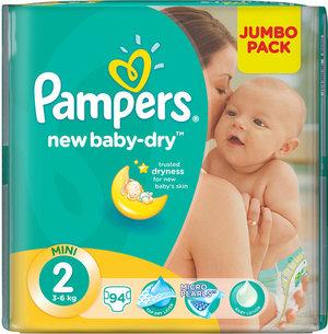 Подгузники PAMPERS New Baby Mini 3-6 кг., 94 шт.