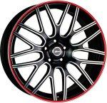 Диски автомобильные X-Race AF-01 6,5x16/5x115 ET41 D70.1 Black-math Red Polished / Черный мат красный серебро - фото 1