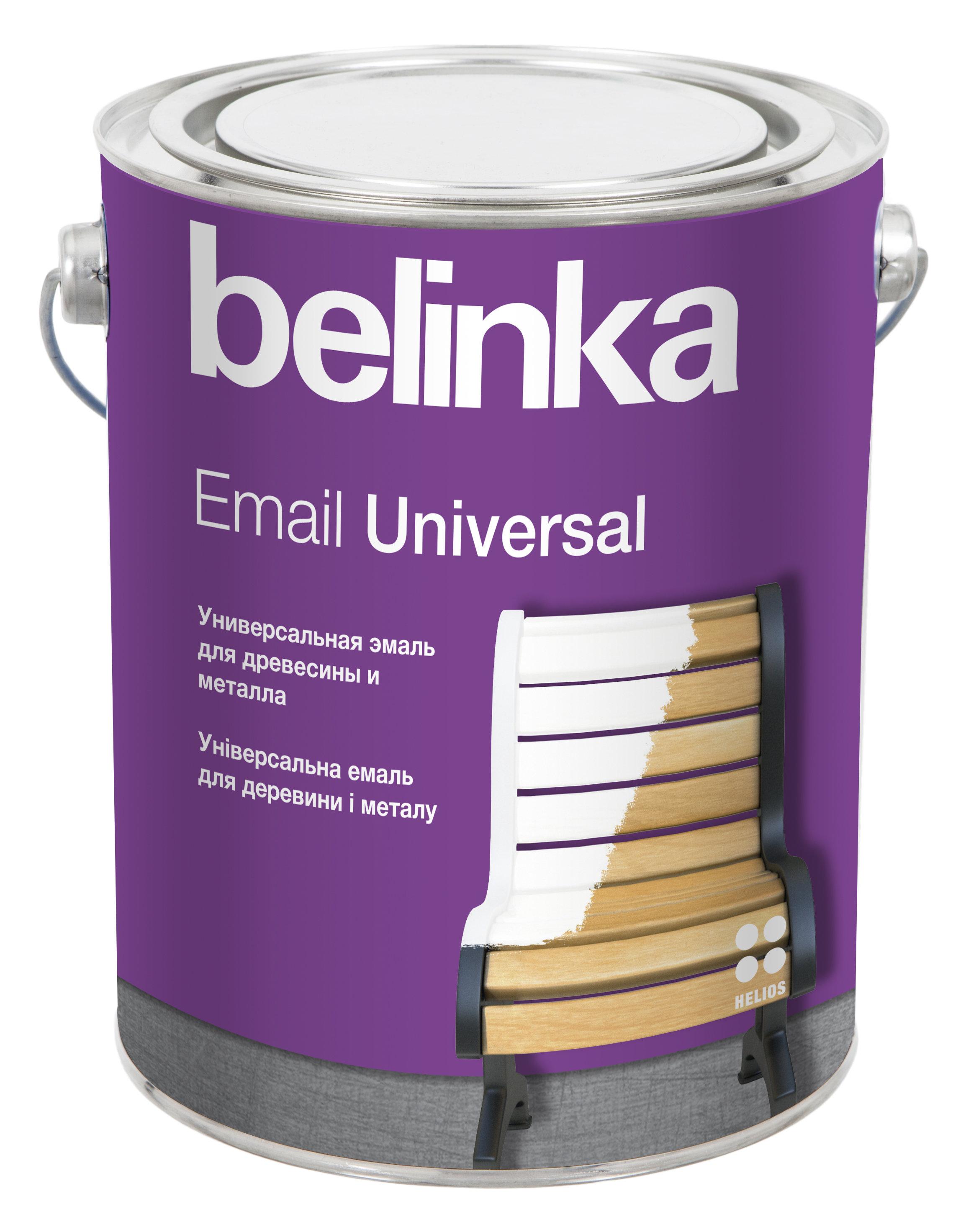 Belinka Email Universal B1 - эмаль для защиты и декора деревянных и металлических поверхностей в интерьере и экстерьере, 2.7 л., цвет Симфония