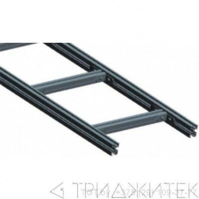 Лестничный лоток, прямая секция шириной 300 мм, алюминий, 3 метра