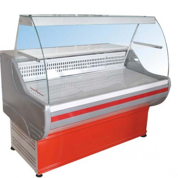 Витрина Иней 4МП 1300 холодильная крашенная