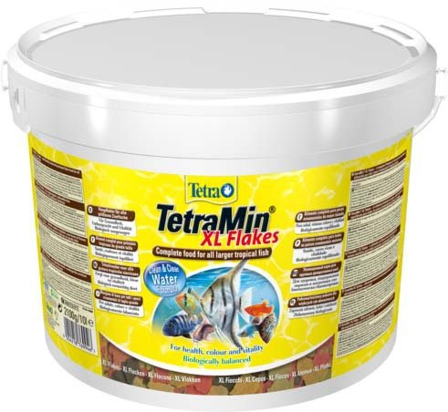 """Корм для всех видов рыб """"Tetra Min XL"""" (крупные хлопья), 10 л"""