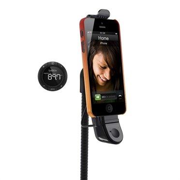 Автомобильный держатель, FM-трансмиттер и громкая связь для iPhone SE/5S/5 Belkin TuneBase® Hands-Free FM (F8J034VF) / код товара: 2307.1