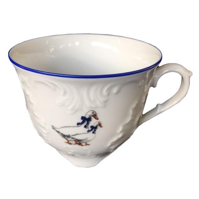 чашка чайная рококо гуси 250мл фарфор