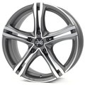 Колесные литые диски Oz Racing X5B 7x16 5x114.3 ET40 D75 MATT GRAPHITE DIAMOND CUT (W85066605N5) - фото 1