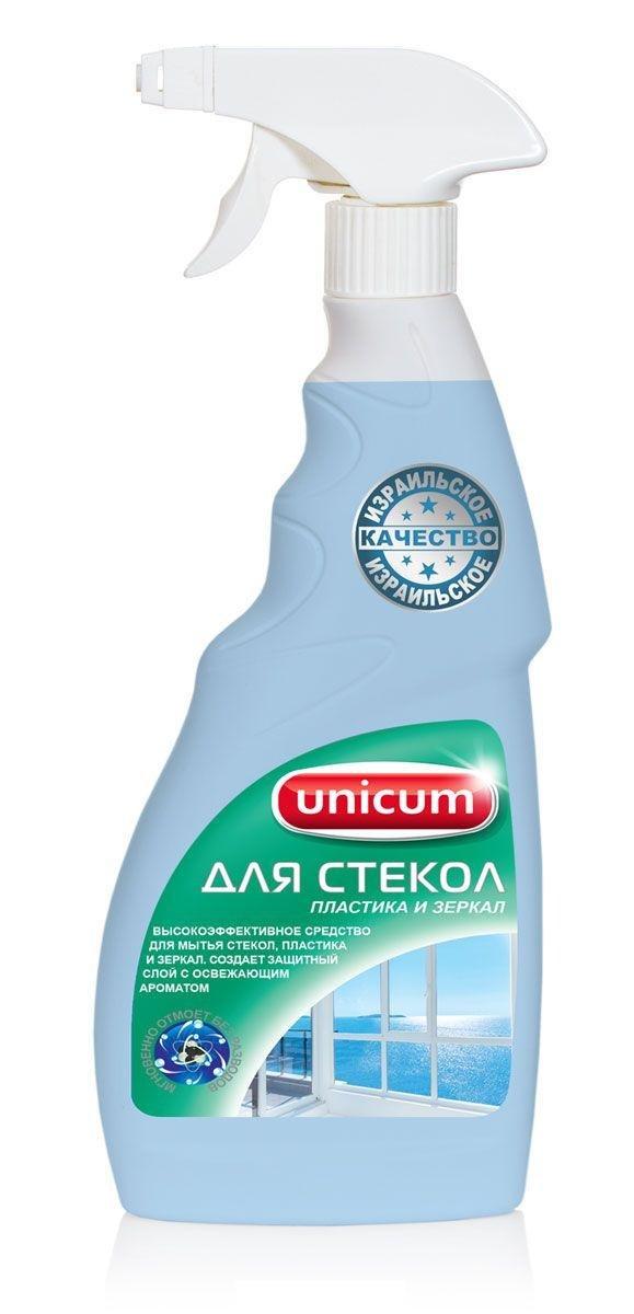 Средство для мытья стекол, пластика, зеркал UNiCUM, 500 мл
